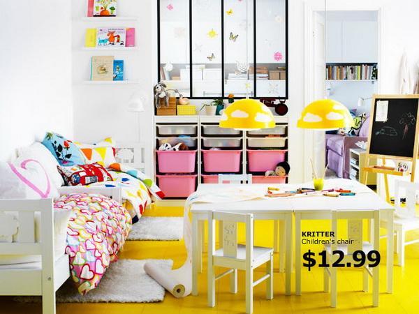 Красочная спальня для девочки от IKEA