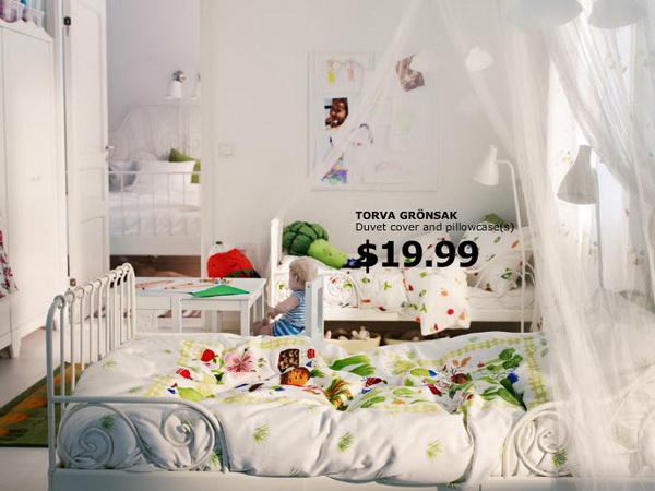 Балдахины в детской комнате от IKEA