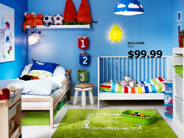 Яркая детская комната от IKEA