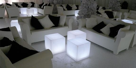 Пуфики со светодиодной подсветкой