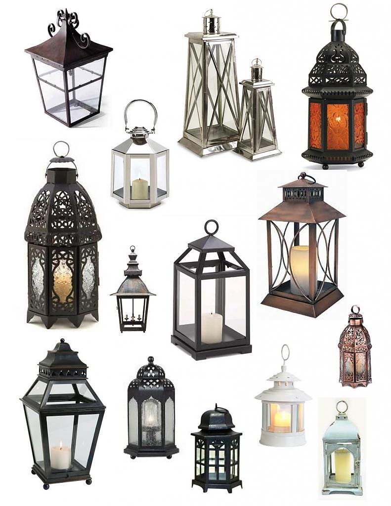Стильные фонари в интерьере
