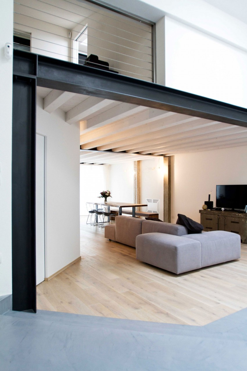 Современная планировка гостиной комнаты