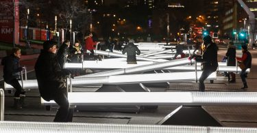 Impulse – зимняя инсталляция в Монреале (2016) как завораживающая игра освещения, музыки и видеопроекций