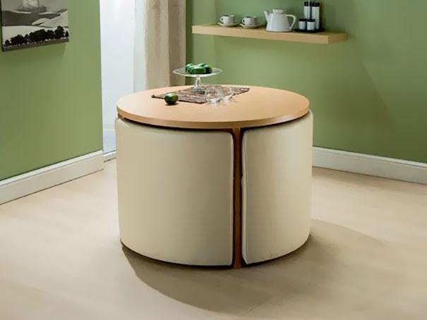 Необычная стол-трансформер с элементами декора