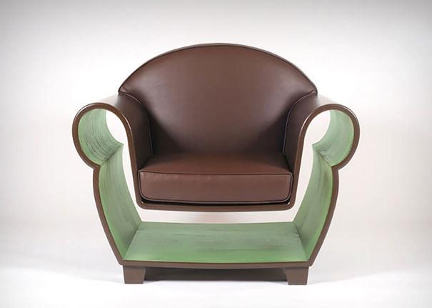 Креативное кресло с нишей для книг
