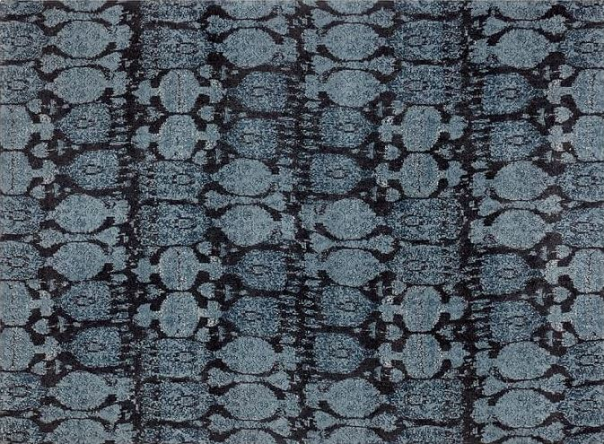 Цвет индиго в интерьере: коврик от Pottery Barn