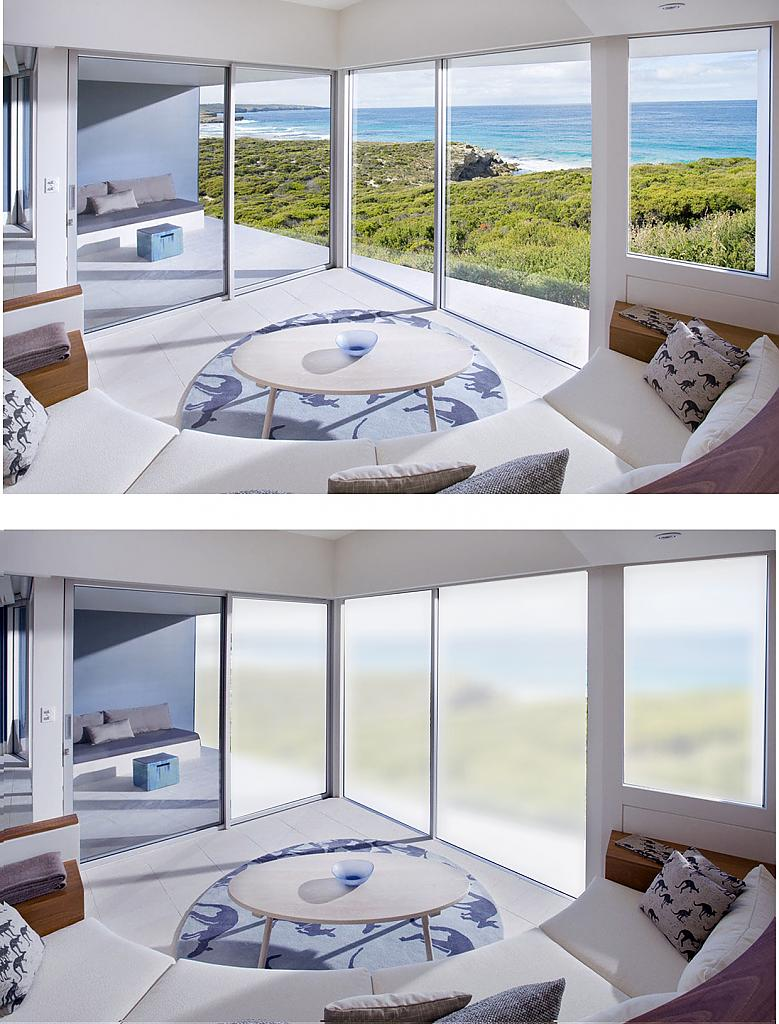 Смарт-экран на панорамных окнах