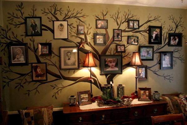 Роспись стен с фотографиями семьи