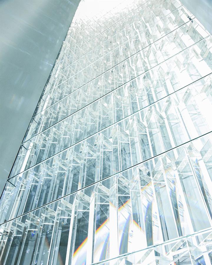 Прямоугольная конструкция инсталяции в Museum of Contemporary Art