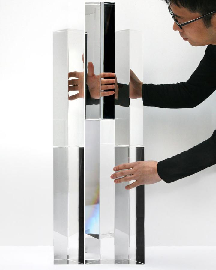 Зеркальные блоки от дизайнера Tokujin Yoshioka