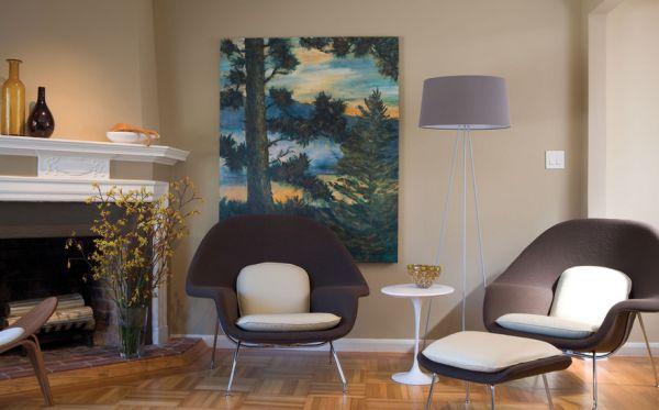 Стильное кресло Womb от Eero Saarinen