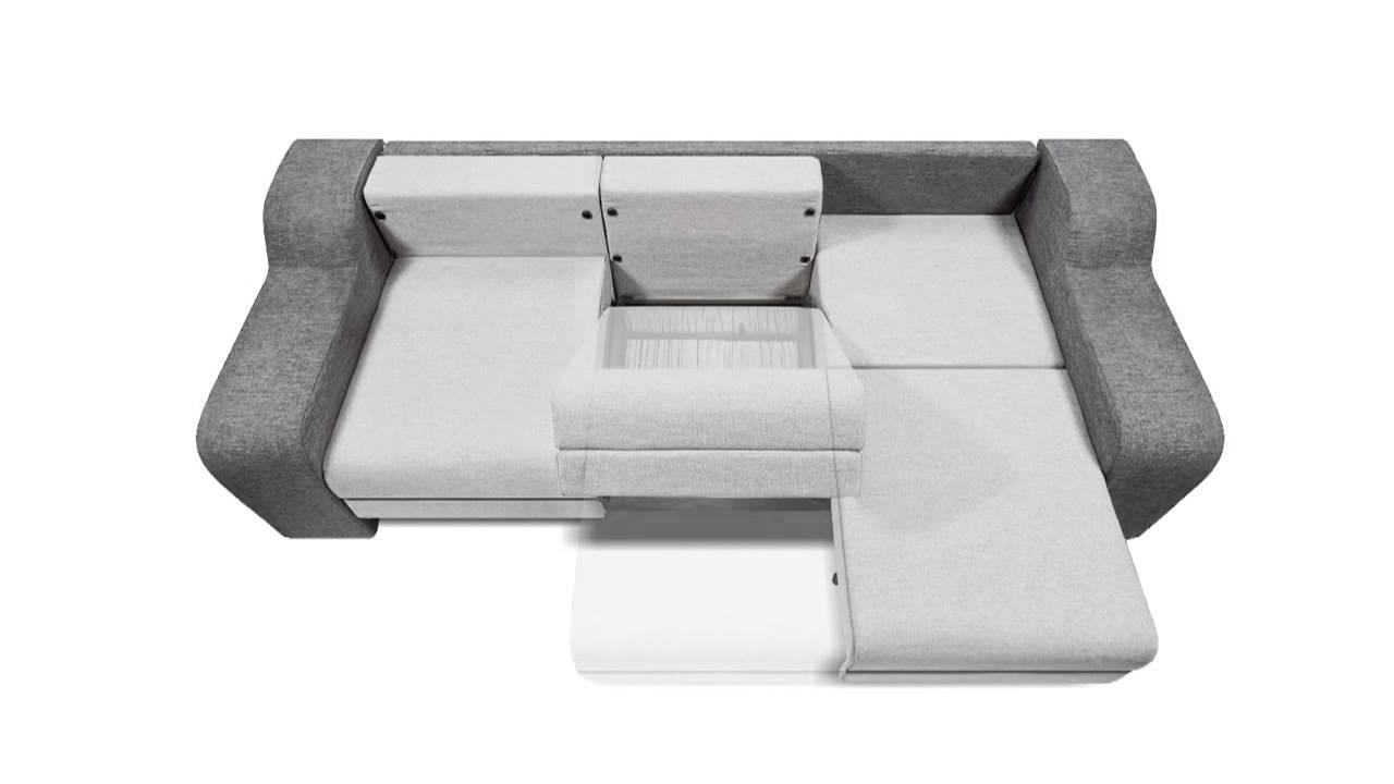 Серый трансформирующийся диван