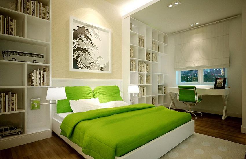 Светлая спальня в стиле фен-шуй