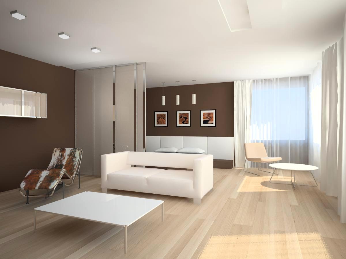 Красивое оформление интерьера помещения в стиле минимализм