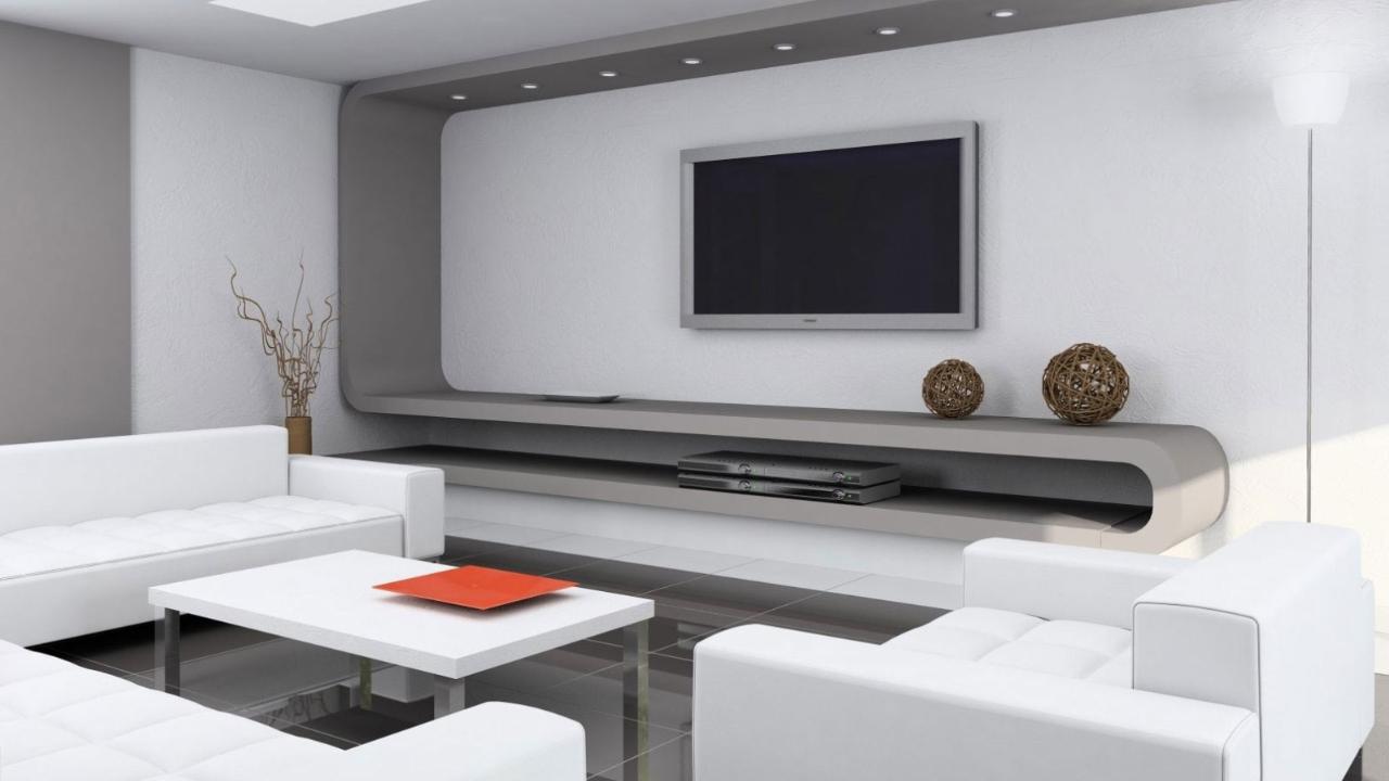 Прекрасное оформление интерьера помещения в стиле минимализм