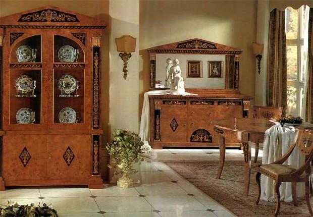 Великолепный дизайн интерьера помещения в стиле ренессанс