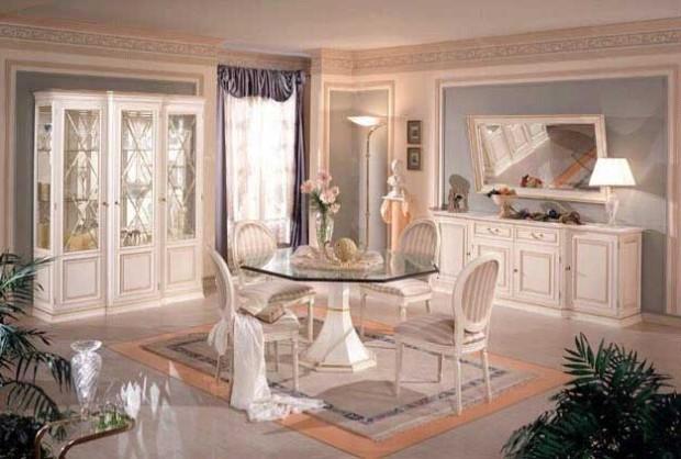 Сногсшибательный дизайн интерьера помещения в стиле ренессанс