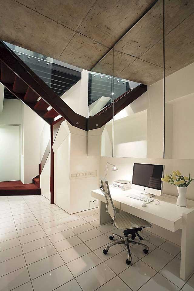 Домашний офис в урбанистическом стиле