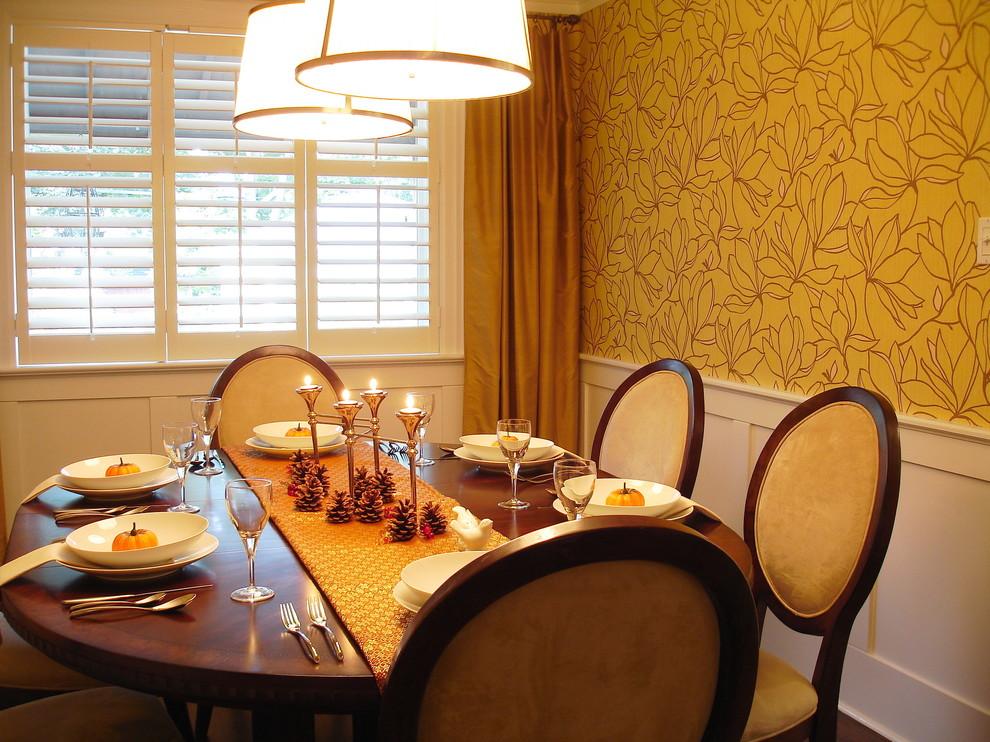 Замечательное оформление интерьера помещения в классическом стиле