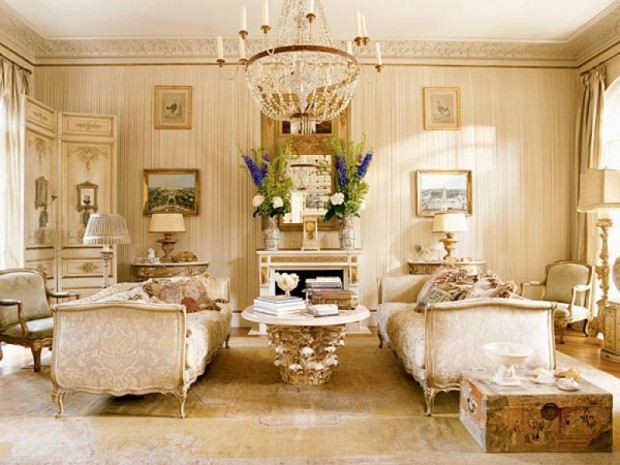 Спальня для двоих в стиле рококо