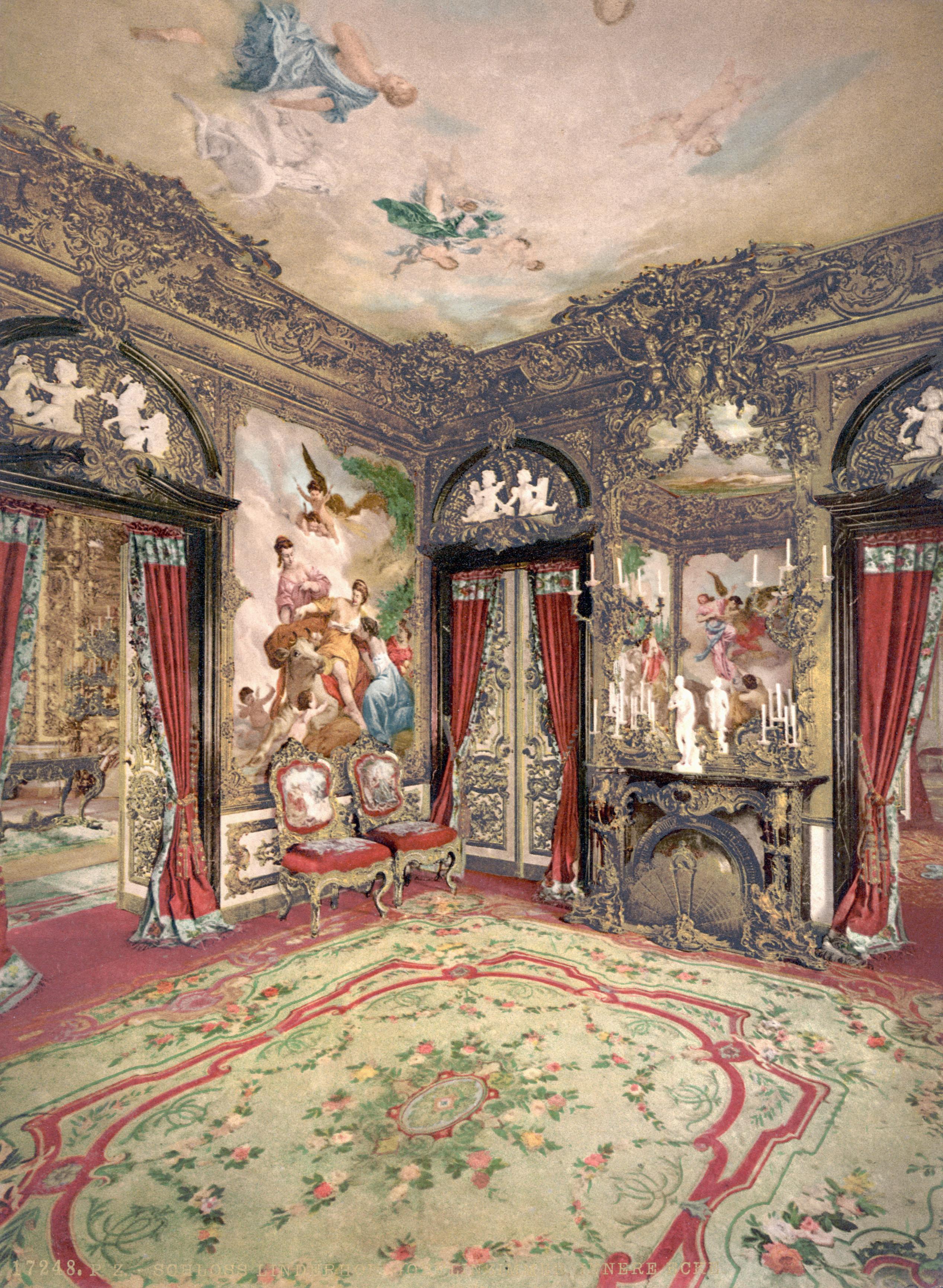 Ковер в интерьере в стиле рококо