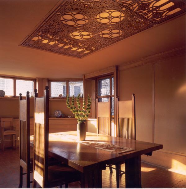 Frank lloyd wright dining room