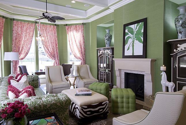 Зеленый цвет в оформлении интерьера