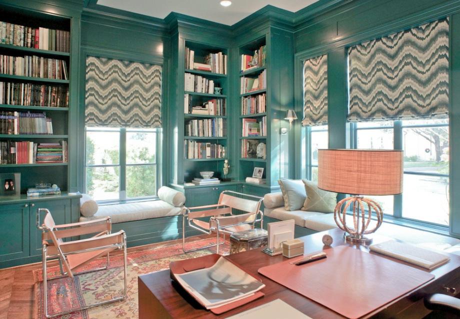 Дизайн интерьера гостиной зоны в зеленом оттенке