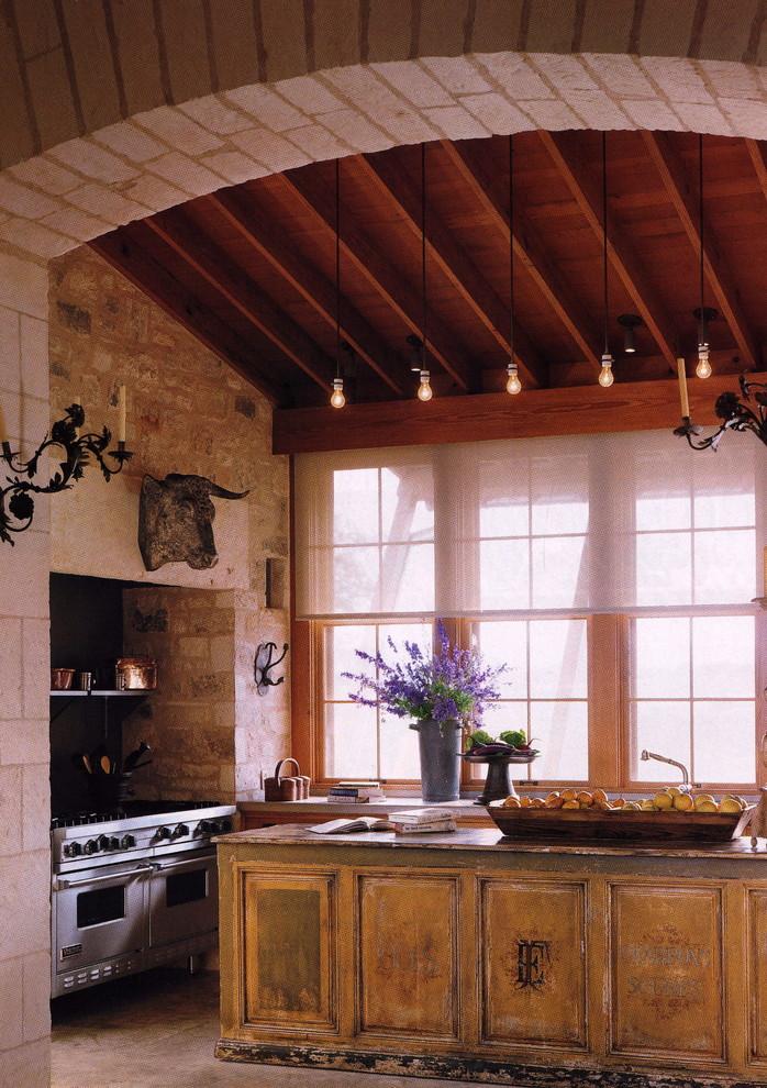 Оформление кухонной зоны в старинном стиле
