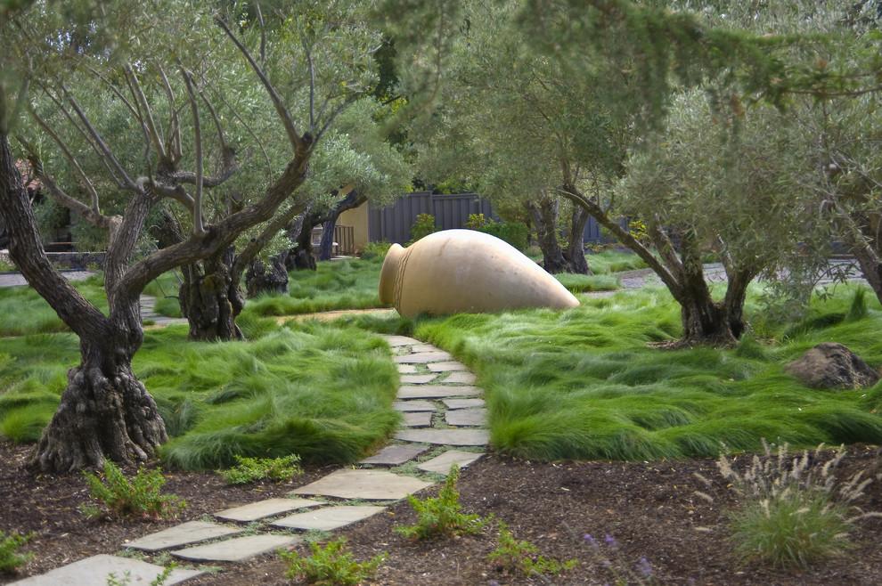 Необычные деревья в саду