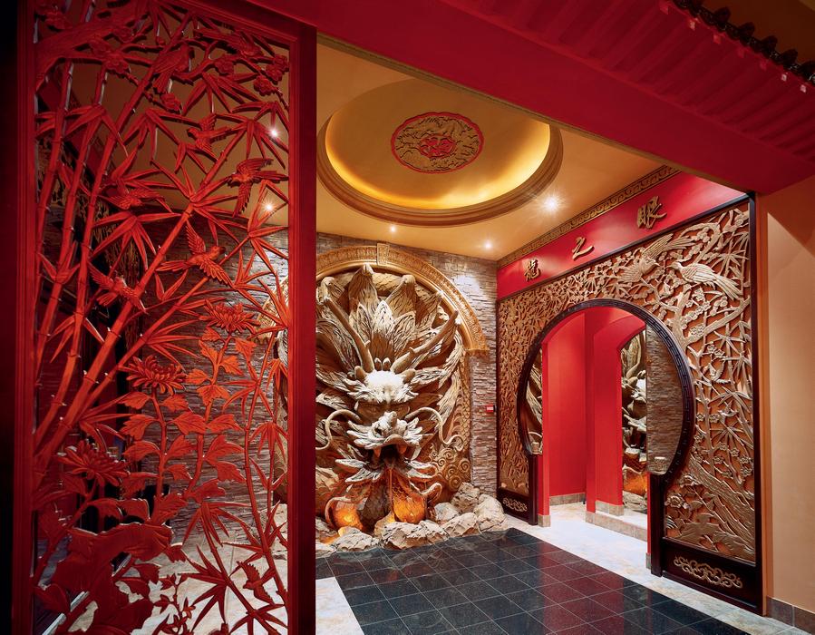 Креативный интерьер помещения в китайском стиле