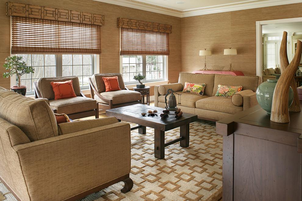 Оформление гостиной зоны в китайском стиле