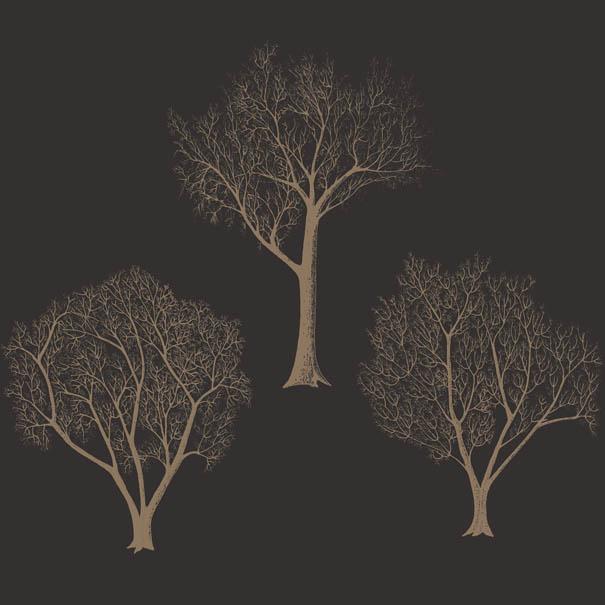 Деревья в качестве рисунка на обоях