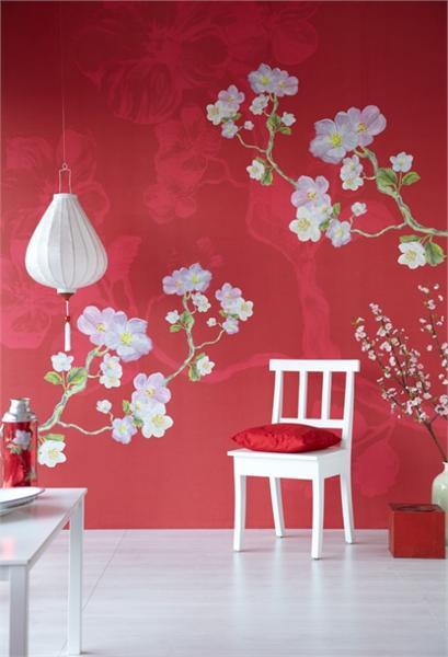 Красивое оформление стен ромашками