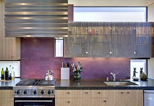 Фиолетовый кухонный фартук