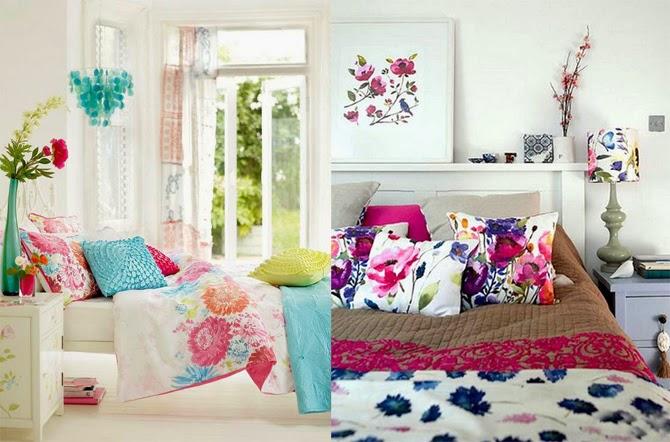 Цветочные принты на подушках