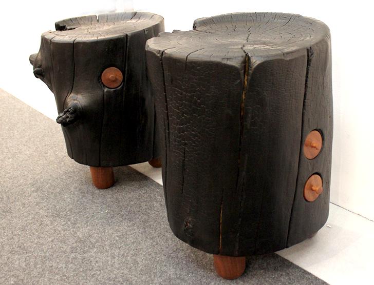 Дизайн табурета из цельного дерева в виде обычного пня