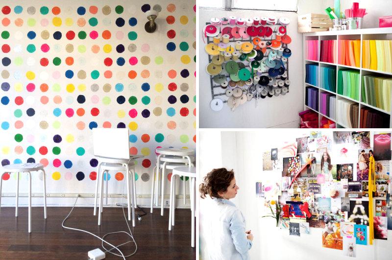 Красочный дизайн в интерьере домашнего кабинета