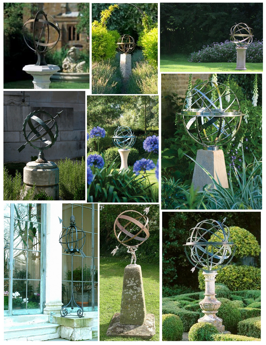 Армиллярная сфера в качестве скульптур