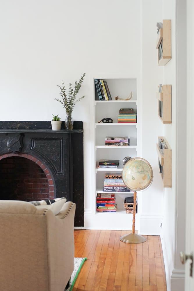 Интерьер дома в скандинавском стиле: деревянный пол