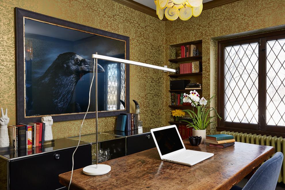 Потрясающий интерьер домов в стиле барокко - офис в стиле Тюдоров