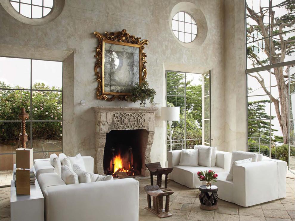 Потрясающий интерьер домов в стиле барокко - потрясающее зеркало