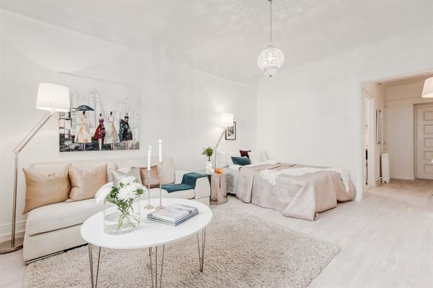 Скандинавский стиль в небольшой квартире