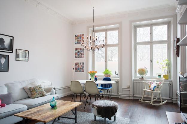 Интерьер маленькой квартиры в шведском стиле