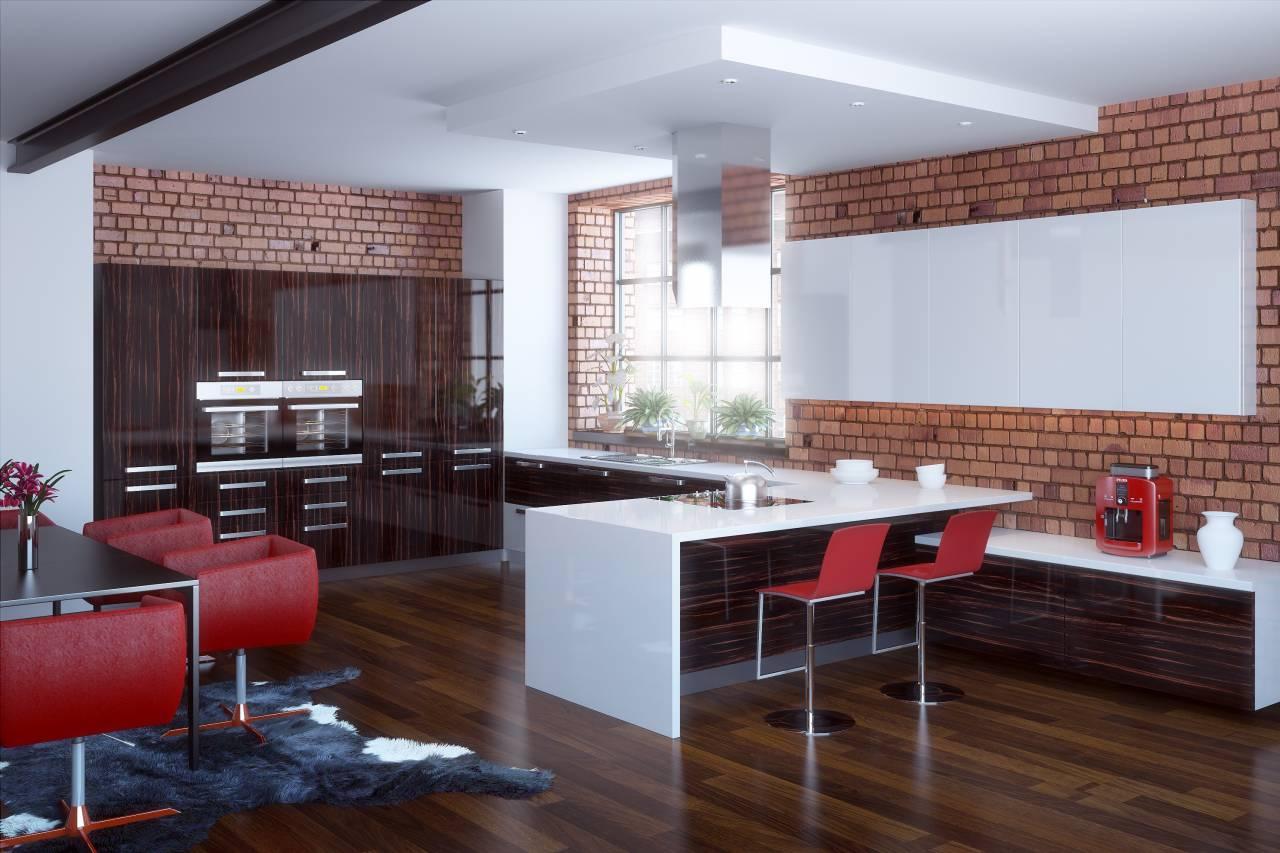 Дизайн встроенная кухня
