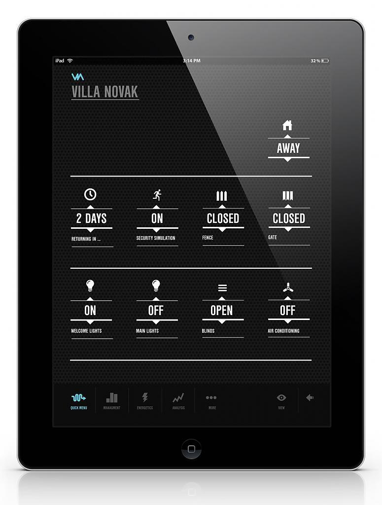 Программа для управлением домом через планшет
