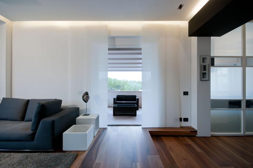 Гостиная Железного дома в минималистичном стиле, Италия