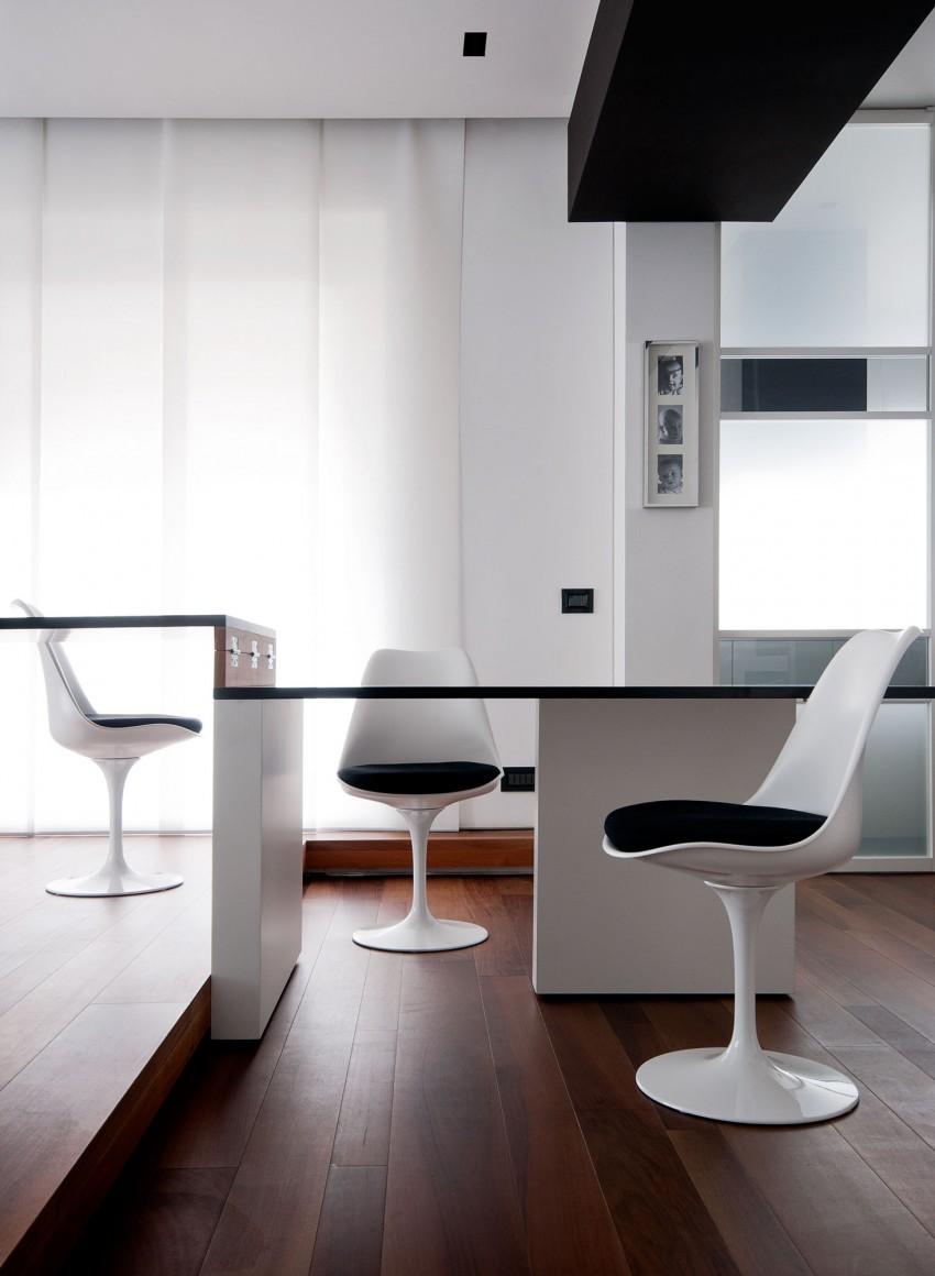 Столовая Железного дома в минималистичном стиле, Италия