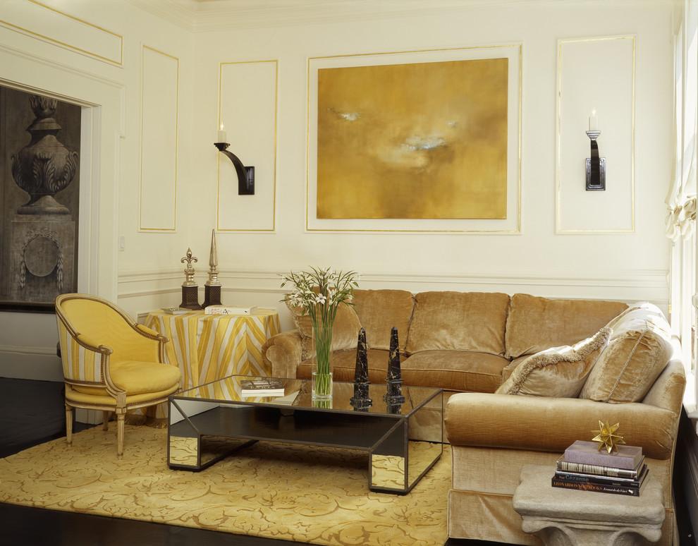 Гостиная в золотом цвете от Jerry Jacobs Design
