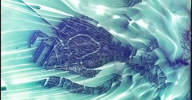 Иштван: инновационный аэрографический проект Струящаяся карта города